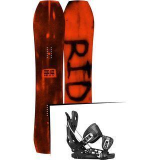 Set: Ride Warpig Large 2017 + Flow NX2 2017, black - Snowboardset