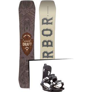 Set: Arbor Draft 2017 + K2 Cinch CTX 2017, black - Snowboardset