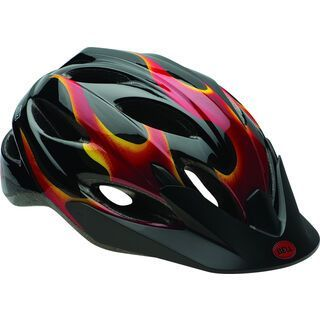 Bell Buzz, black/red flames - Fahrradhelm