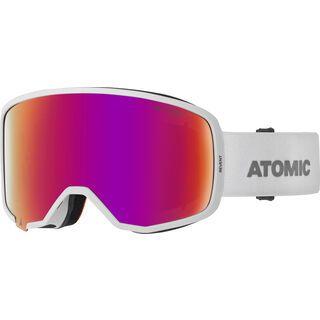 Atomic Revent Stereo, white/Lens: red stereo - Skibrille