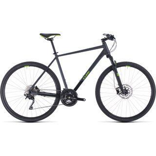 *** 2. Wahl *** Cube Cross Pro 2020, iridium´n´green - Fitnessbike | Größe 58 cm