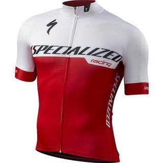 Specialized SL Expert Jersey SS, white/red team - Radtrikot