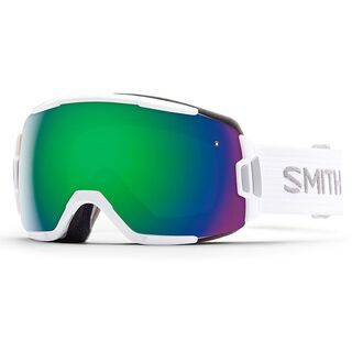 Smith Vice, white/green sol-x mirror - Skibrille