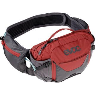 Evoc Hip Pack Pro 3l + Hydration Bladder 1,5l, carbon grey/chili red - Hüfttasche