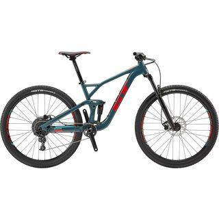 GT Sensor Sport 2019, slate w/ red & aqua - Mountainbike