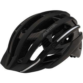 Alpina E-Helm Deluxe, black pinstripes reflective - Fahrradhelm