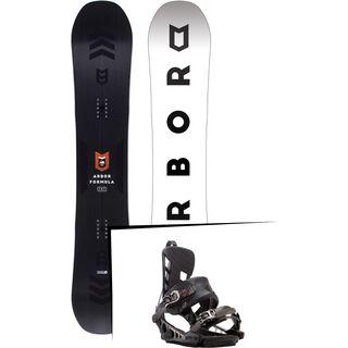 Set: Arbor Formula Mid Wide 2017 + K2 Cinch CTS 2017, black - Snowboardset