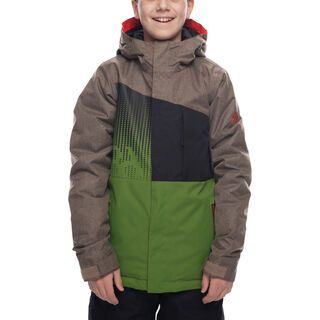 686 Boys' Knockout Insulated Jacket, khaki melange - Snowboardjacke