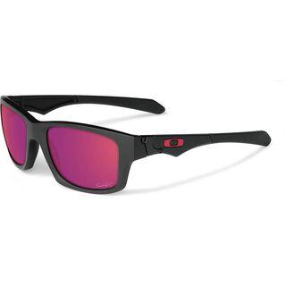 Oakley Jupiter Squared Sébastien Loeb, Matte Black /Positive Red Iridium - Sonnenbrille