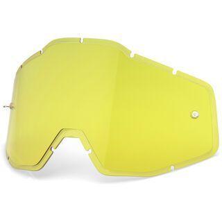 100% Racecraft/Accuri/Strata Replacement Lens, yellow