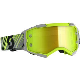 Scott Fury Goggle, yellow/grey/Lens: yellow chrome wks - MX Brille