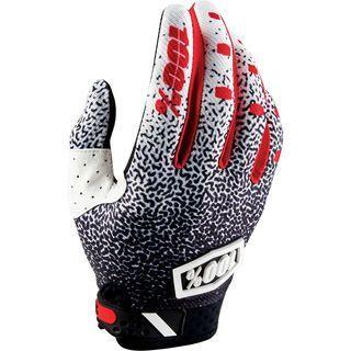 100% Ridefit Glove, black/white - Fahrradhandschuhe