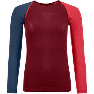 Ortovox 120 Merino Comp Light Long Sleeve W, dark blood - Unterhemd