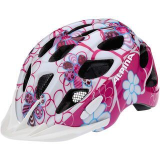 Alpina Rocky, pink lightblue flowers - Fahrradhelm