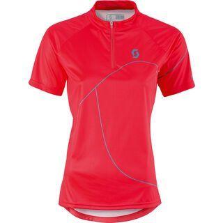 Scott Womens Trail 50 s/sl Shirt, hibiscus red/ocean blue - Radtrikot