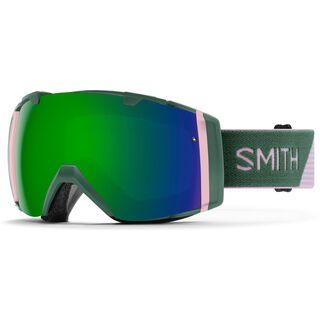 Smith I/O inkl. Wechselscheibe, patina split/Lens: sun green mirror chomapop - Skibrille