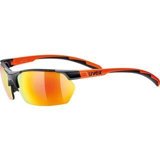 uvex Sportstyle 114 inkl. Wechselgläser, black mat orange/Lens: mirror orange - Sportbrille