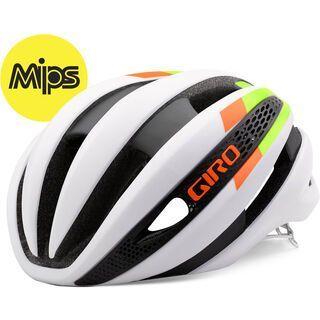 Giro Synthe MIPS, white lime flame - Fahrradhelm