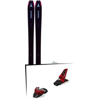 Set: Atomic Backland 85 W + Hybrid Skin 85 2019 + Marker Squire 11 red