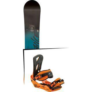 Set: Nitro Stance Wide 2017 + Nitro Staxx 2017, bright orange - Snowboardset