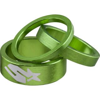Spank Headset Spacer Kit, emerald green - Spacer