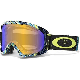 Oakley O2 XL, Stumped Lime Blue/H.I. Persimmon - Skibrille