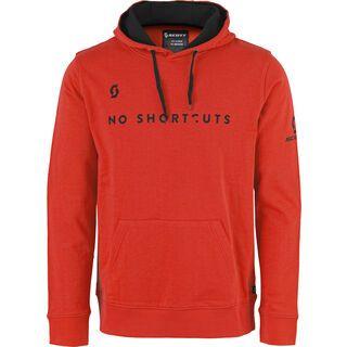 Scott 50 No Shortcuts L/SL Hoody, fiery red