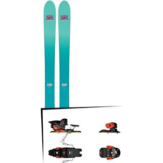 Set: DPS Skis Nina F99 Foundation 2018 + Salomon Warden MNC 13 white/black/orange