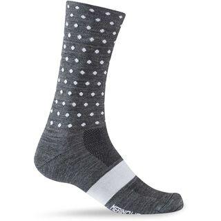 Giro Merino Seasonal, charcoal white dots - Radsocken