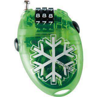 Icetools Mrs. Lock, clear green - Kabelschloss