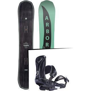 Set: Arbor Element Mid Wide 2017 + Ride Capo, black - Snowboardset
