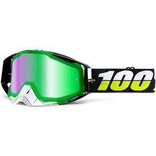 100% Racecraft inkl. Wechselscheibe, simbad/Lens: mirror green - MX Brille