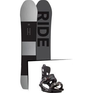 Set: Ride Timeless 2017 + K2 Cinch CTS 2017, black - Snowboardset