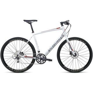Specialized Sirrus Comp Disc 2014, White/Grey/Red - Fitnessbike
