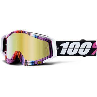 100% Racecraft inkl. Wechselscheibe, glitch/Lens: mirror gold - MX Brille