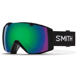 Smith I/O inkl. Wechselscheibe, black/Lens: green sol-x mirror - Skibrille