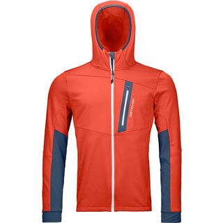 Ortovox Merino Fleece Light Tec Hoody M, crazy orange - Fleecehoody
