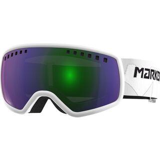 Marker 16:9, weiß/Lens: green plasma mirror - Skibrille