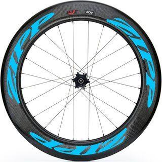 Zipp 808 Firecrest Tubular Disc-brake, schwarz/blau - Hinterrad