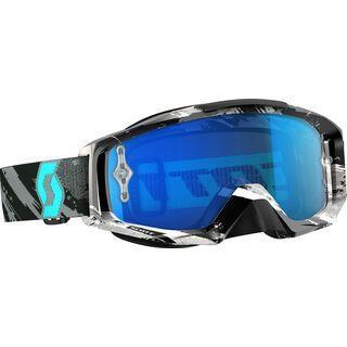 Scott Tyrant, zebra grey/turquoise electric blue chrome - MX Brille