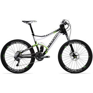 *** 2. Wahl *** Cannondale Trigger Carbon 1 2013, exposed carbon w/ magnesium white and bersker green accents gloss - Mountainbike | Rahmenhöhe M // 45,7 cm