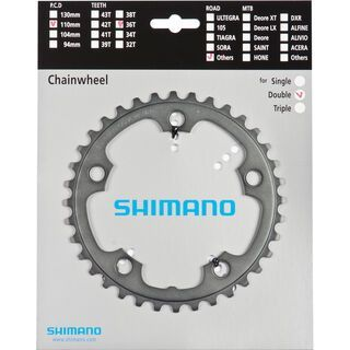 Shimano Kettenblätter Road FC-CX70 - 2x10, grau
