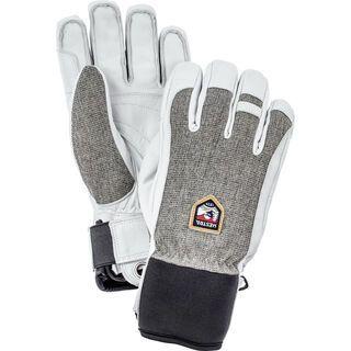 Hestra Army Leather Patrol 5 Finger, light grey - Skihandschuhe