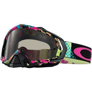 Oakley Mayhem MX, mosh pit neon/clear & dark grey - MX Brille