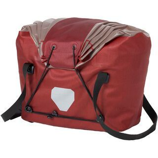 Ortlieb Fahrradkorb L, dark chili-grau - Gepäckträgertasche