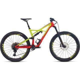 Specialized S-Works Enduro FSR Carbon 29/6Fattie 2017, red/hy green/black - Mountainbike