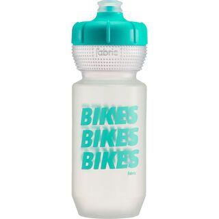 Fabric Gripper Bottle Bikes Bikes Bikes 600 ml, clear/mint - Trinkflasche
