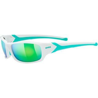 uvex sportstyle 211, white green/Lens: mirror green - Sportbrille