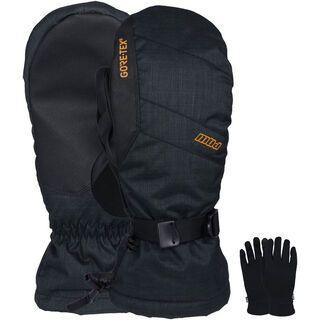 POW Gloves Warner Gore-Tex Long Mitt + Merino Liner, tobacco - Snowboardhandschuhe