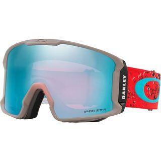 Oakley Line Miner Prizm, red sea/Lens: prizm snow saphire iridium - Skibrille